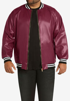 MVP Collections® Faux Leather Bomber Jacket,