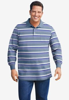 Liberty Blues® Long-Sleeve Polo Shirt, VARSITY BLUE MULTI STRIPE