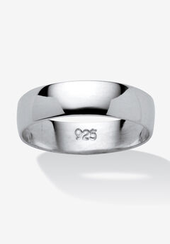 Sterling Silver Wedding Band Ring,