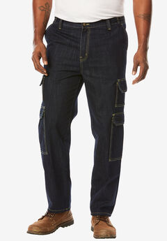 Liberty Blues® Side-Elastic Cargo Jeans,