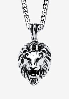 Lion's Head Pendant Necklace ,