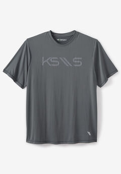 Crewneck Tee by KS Sport™, STEEL LOGO