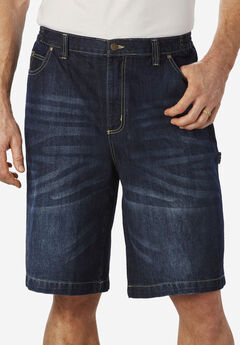 Denim Carpenter Shorts by Liberty Blues®,
