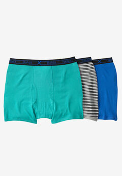 FreshIQ® X-Temp® Comfort Cool ® Boxer Briefs 3-Pack by Hanes®, BLUE GREEN MULTI