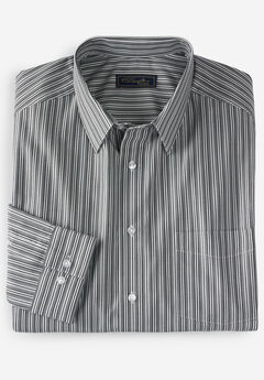 No Hassle® Long-Sleeve Dress Shirt by KS Signature®, BLACK STRIPE