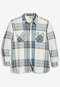Levi's® Plaid Flannel Shirt, MARSHMALLOW