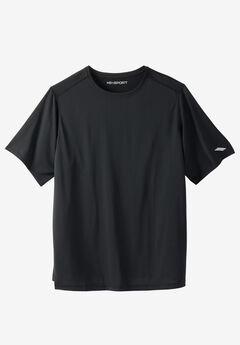 X-Absorb Wicking Short-Sleeve Tee by KS Sport™, BLACK