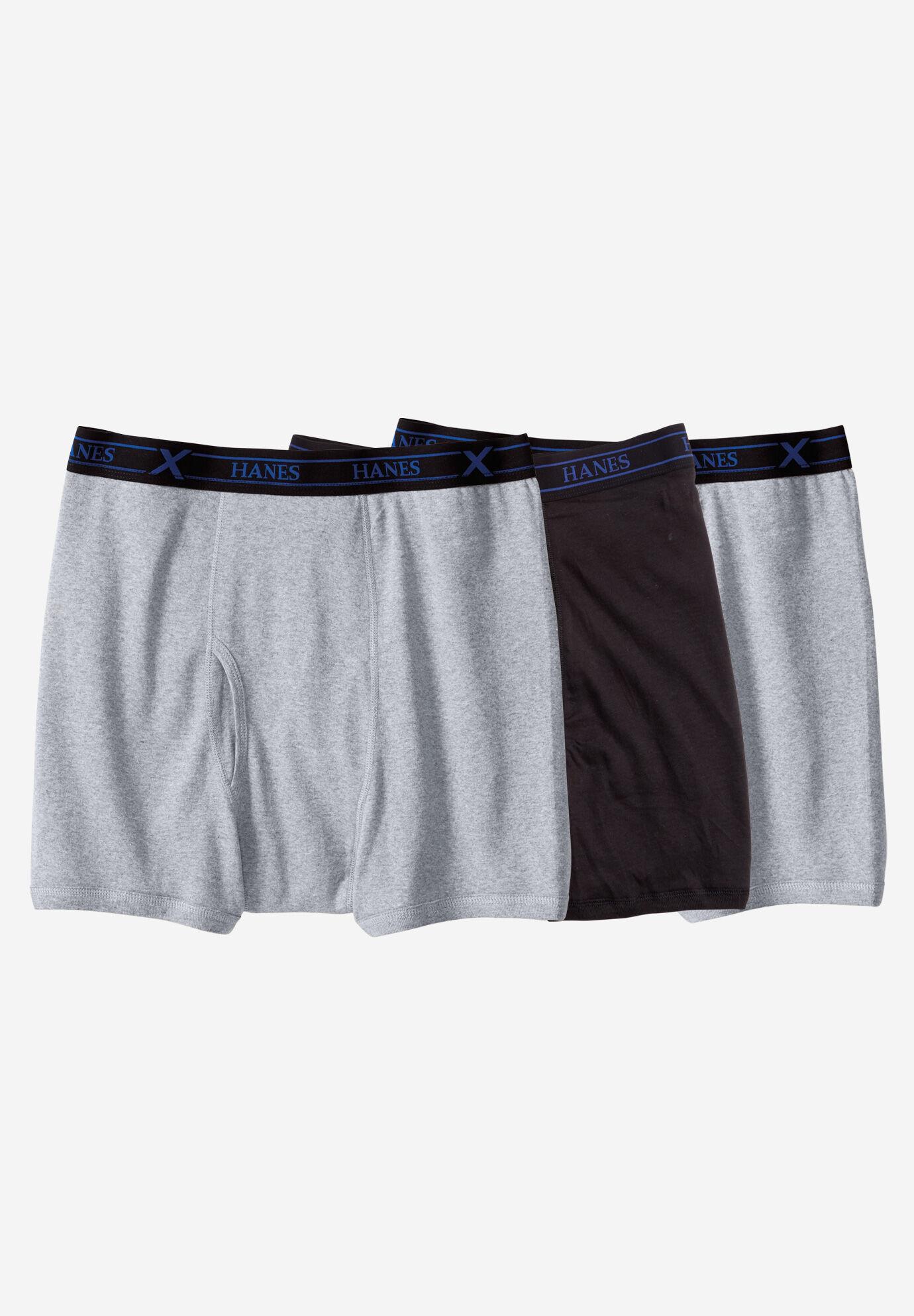Hanes Big Mens Underwear Cotton Briefs 3-Pack