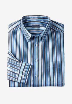 KS Signature No Hassle® Long-Sleeve Dress Shirt, ROYAL BLUE STRIPE