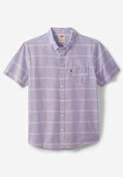 Levi's® Striped Short-Sleeve Button-Down Shirt , ASTER PURPLE
