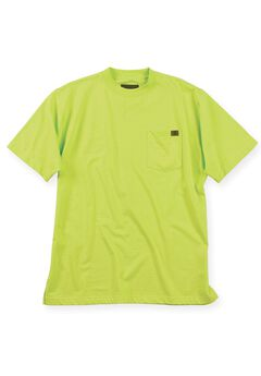 Crewneck Cotton Tee Shirt with Pock