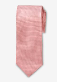 KS Signature Extra Long Classic Textured Tie, SOFT PINK