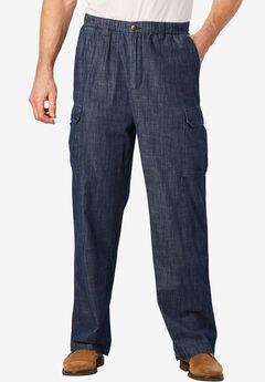 Knockarounds® Cargo Pants with Full Elastic Waist, INDIGO