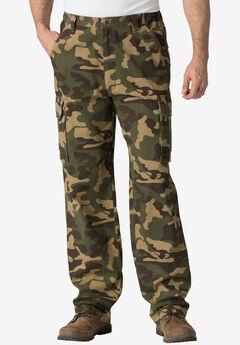 Boulder Creek® Side-Elastic Waist Cargo Pants, OLIVE CAMO