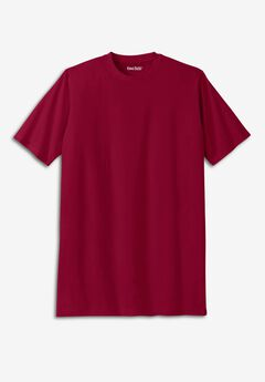 Shrink-Less™ Lightweight Crewneck T-Shirt, RICH BURGUNDY
