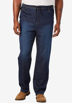 5-Pocket Relaxed Fit Denim Sweatpants,