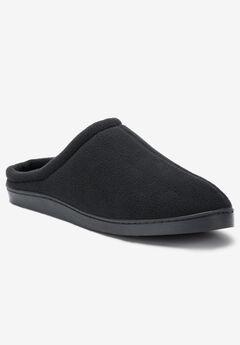 Fleece Clog Slippers, BLACK