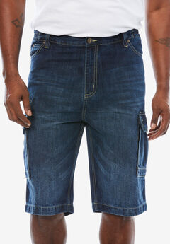 Denim Cargo Shorts by Liberty Blues®,