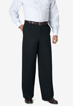 WRINKLE-RESISTANT PANTS WITH EXPANDABLE WAIST, WIDE LEG,
