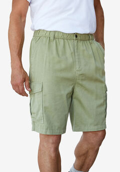 "Boulder Creek® Renegade 9"" Full Elastic Waist Single Pocket Cargo Shorts, BRITISH KHAKI"