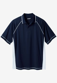 Raglan Sleeve Swim Polo, NAVY WHITE