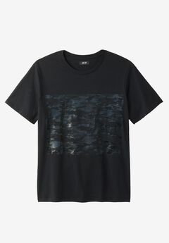 Camo Graphic Tee by MVP Collections®, BLACK
