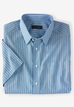 Classic Fit Broadcloth Flex Short-Sleeve Dress Shirt by KS Signature,