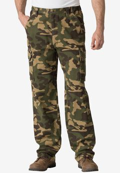 Boulder Creek® Renegade Cargo Pants with Side Elastic, OLIVE CAMO