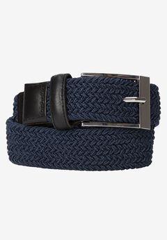Elastic Braid Belt, NAVY