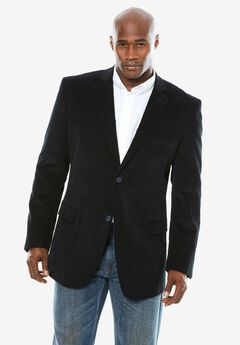 Corduroy Blazer by KS Signature, BLACK