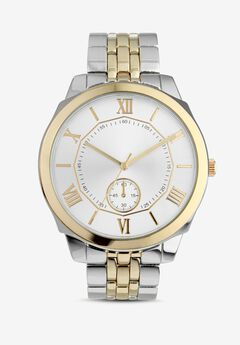 Two-Tone Metal Link Watch,