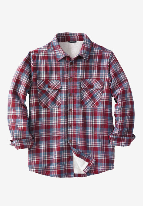 f345c0d7 Flannel Sherpa Lined Shirt  Big and Tall Flannel Shirts   King Size