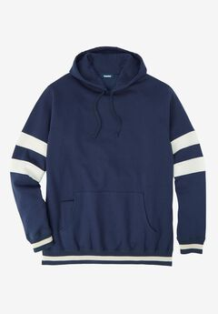 KingSize Coaches Collection Colorblocked Pullover Hoodie, NAVY