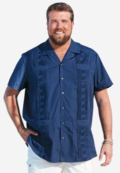 KS Island™ Short-Sleeve Guayabera Shirt,