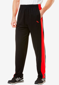 Power Wicking Pants by KS Sport™, BLACK BLAZE RED