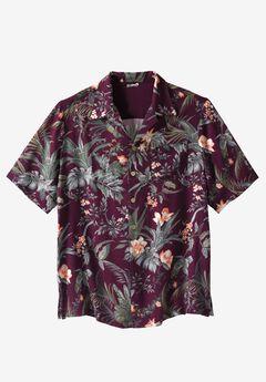 Island Print Rayon Shirt by KS Island™, HARVEST ISLAND