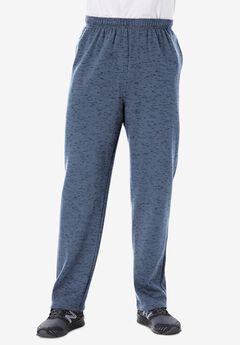 Fleece Open-Bottom SweatpantsHeather Slate Blue,