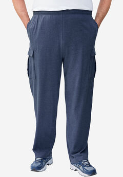 Lightweight Cargo Sweatpants, HEATHER SLATE BLUE
