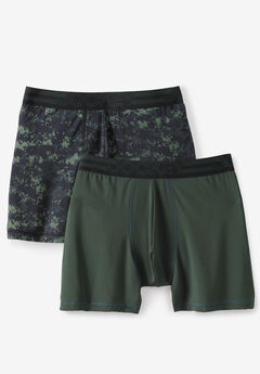 Jockey® Active Micro Midway Briefs 2-Pack, GREEN CAMO