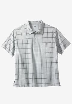 Lightweight Pocket Golf Polo Shirt, LIGHT GREY WINDOW PANE