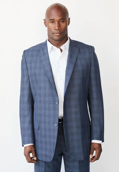 KS Signature Easy Movement® Two-Button Jacket, NAVY WINDOW PANE