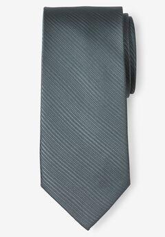 Classic Textured Tie, CARBON