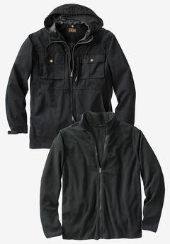 3-in-1 Resistance Jacket by Boulder Creek®, BLACK