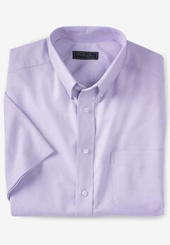 Wrinkle-Resistant Short-Sleeve Oxford Shirt by KS Signature®, SOFT PURPLE