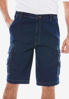 "Boulder Creek® 12"" Denim Cargo Shorts,"