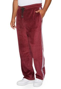 Velour Track Pants,