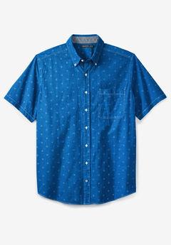 Printed Chambray Woven Shirt by Nautica®, ROYAL BLUE