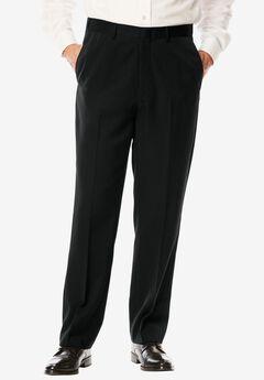 Signature Fit Wrinkle-Resistant Plain Front Dress Pants,
