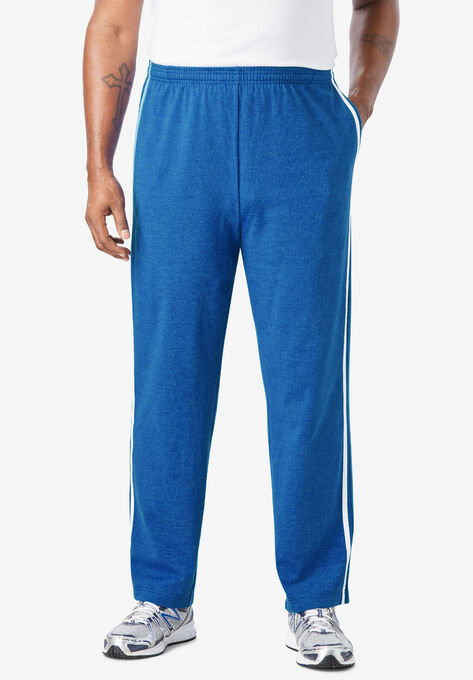 854887fed Lightweight Sweat Pants with Side Stripes| Big and Tall All Pants ...