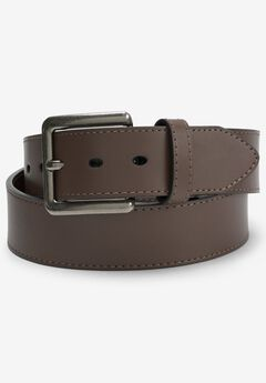 Casual Leather Belt, NEW BROWN